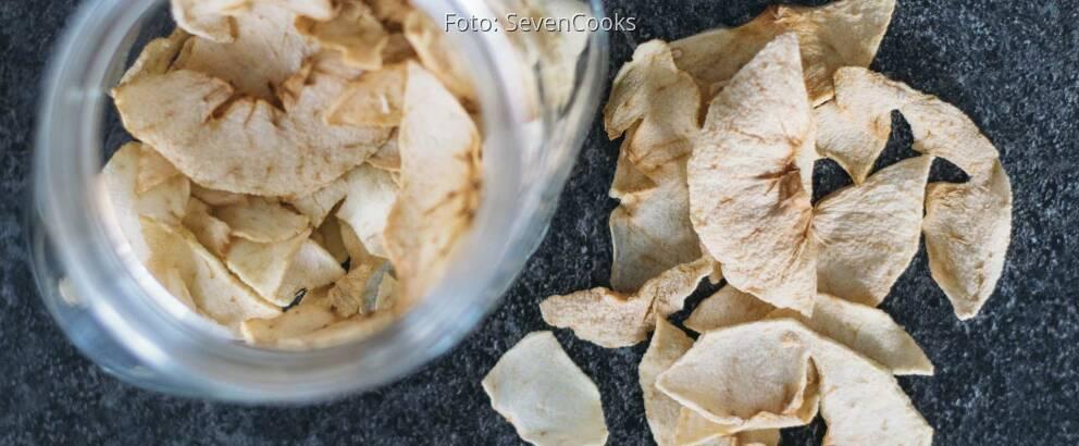 Veganes Rezept: Apfelringe aus dem Ofen