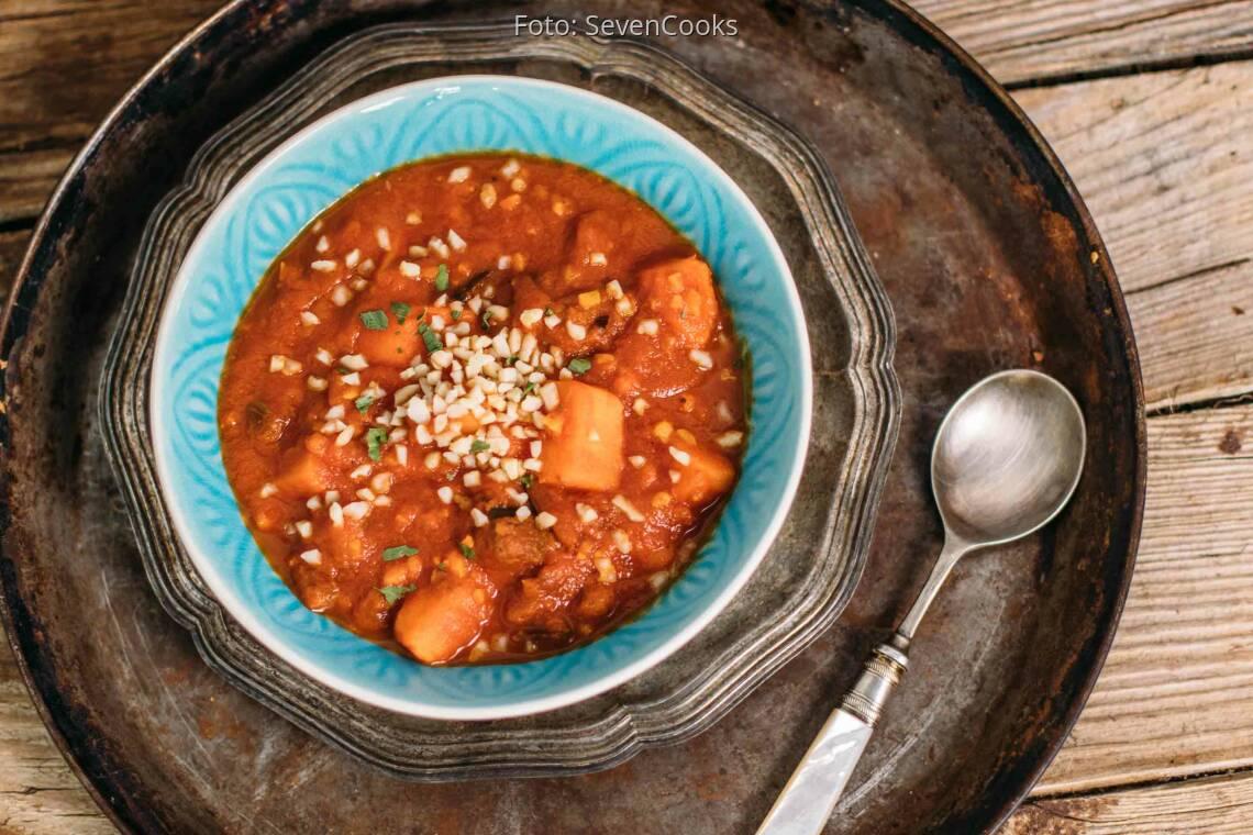 Veganes Rezept: Auberginen-Süßkartoffel-Curry_1