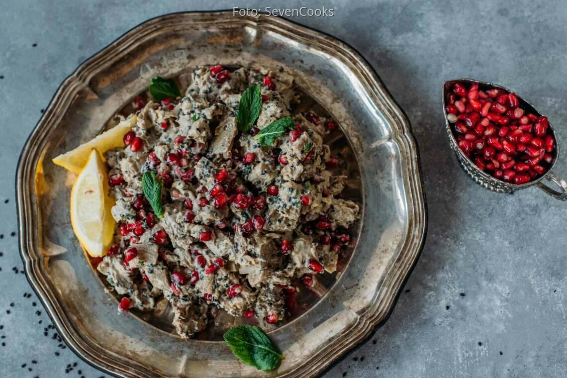 Veganes Rezept: Auberginensalat mit Tahin 1
