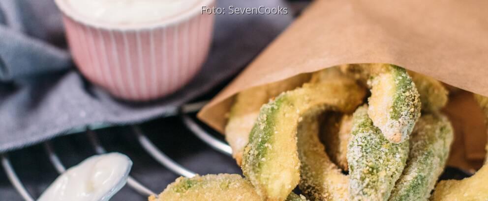 Veganes Rezept: Avocado-Fritters mit Aioli 3