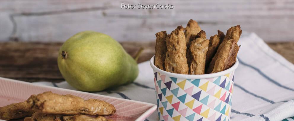 Veganes Rezept: Birnen Dinkelstangen ohne Zucker