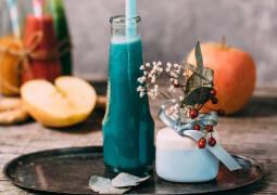 Veganes Rezept: Blauer Vitaminsmoothie_1