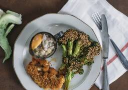 Fertiges Rezept: Blumenkohl- und Brokkolisteaks mit cremiger Austernpilzsauce_1