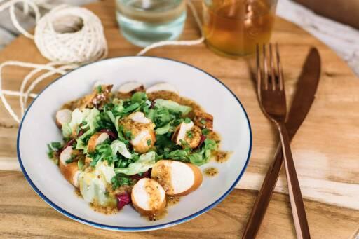 Veganes Rezept: Brezensalat mit süßem Senf Dressing_1