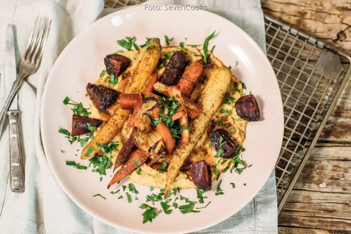 Veganes Rezept: Buntes Wurzelgemüse aus dem Ofen 1