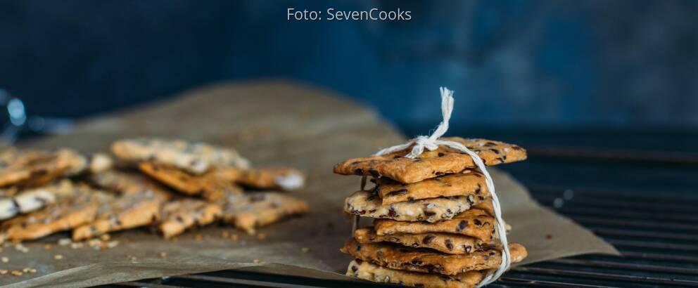Veganes Rezept: Dinkel-Leinsamen-Cracker 2