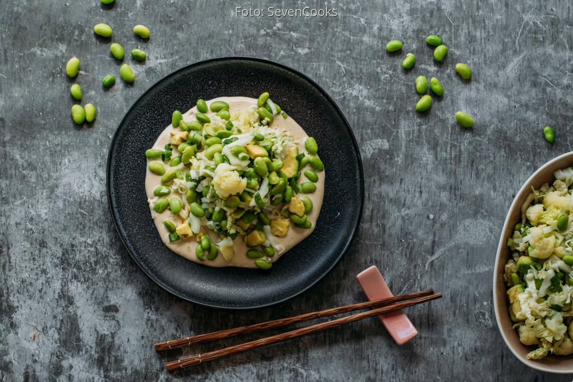 Veganes Rezept: Edamame Avocado Salat 1