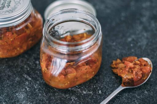 Eingekochte Tomatensoße