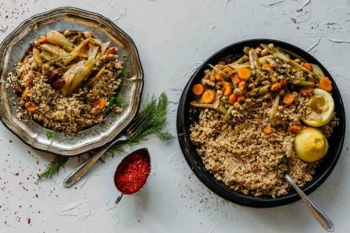 Fenchelgemüse mit Couscous und Möhren