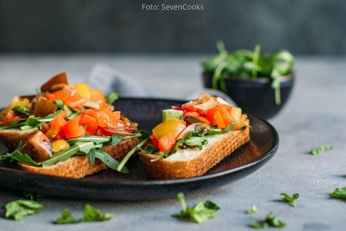 Veganes Rezept: Frühstücks-Bruschetta 1