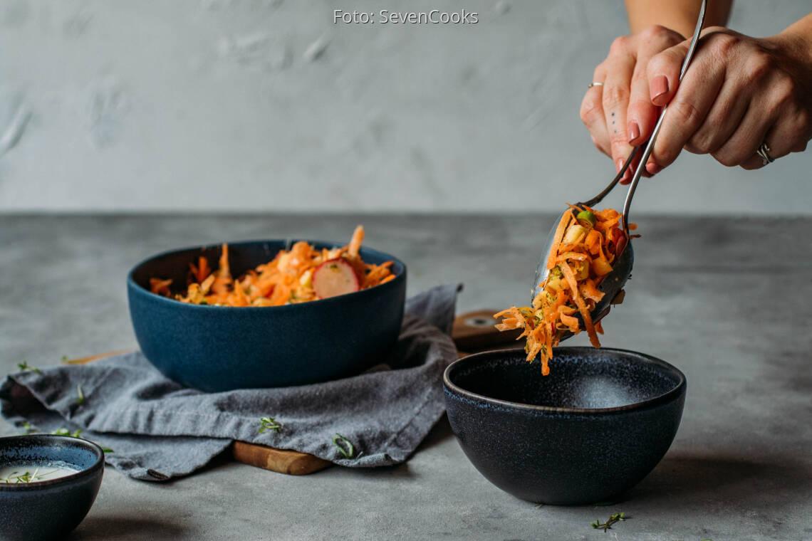 Veganes Rezept: Frischer Karottensalat 1