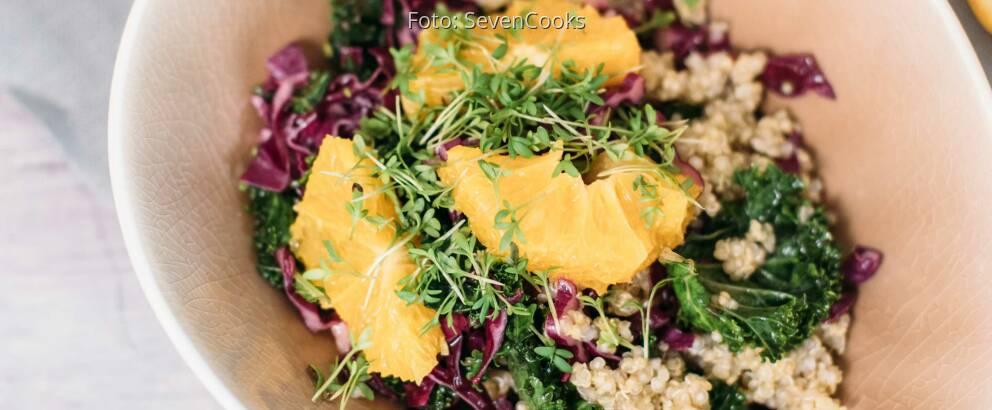 Veganes Rezept: Fruchtiger Grünkohlsalat 3