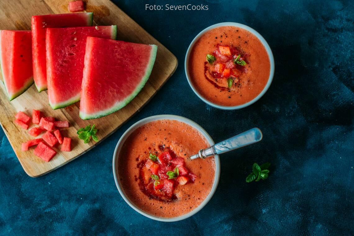 Veganes Rezept: Gazpacho von der Wassermelone 1