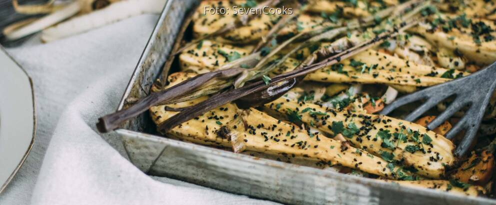 Veganes Rezept: Gebackene Pastinaken