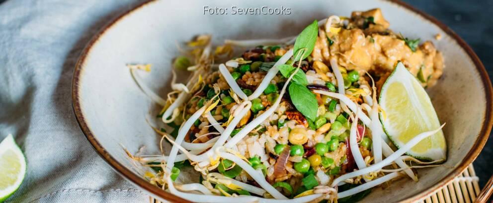 Veganes Rezept: Gebratener Reis mit Erdnuss-Tofu 3