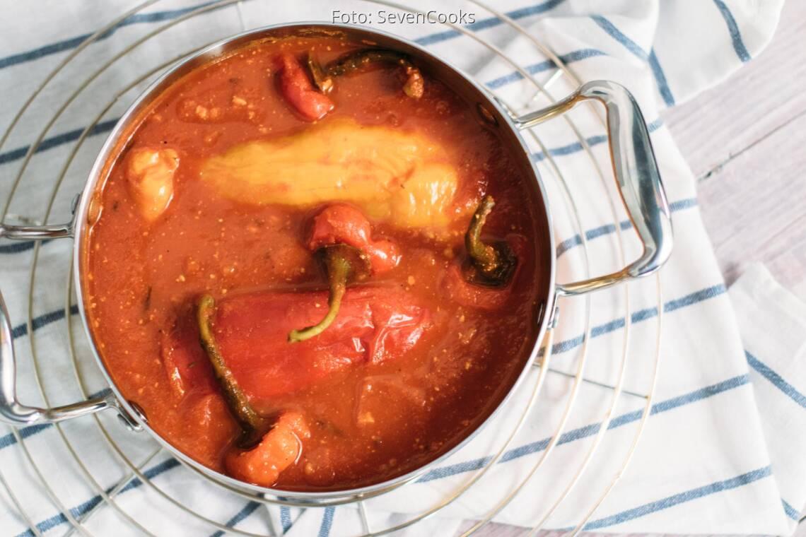 Veganes Rezept: Gefüllte Paprika mit Tofu und Reis_1