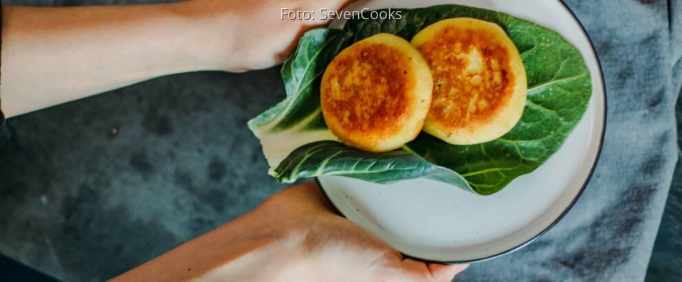 Veganes Rezept: gefüllte Kartoffelküchlein mit Kohlrabiragout 3