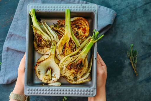 Veganes Rezept: Gegrillter Fenchel mit Zitronenöl 2