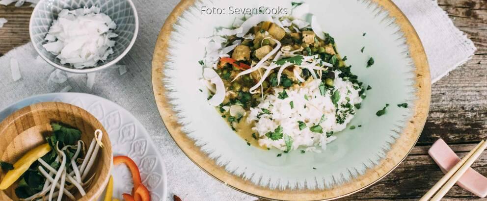 Veganes Rezept: Gelbes Thai Curry