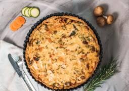 Veganes Rezept: Gemüse-Tarte 1