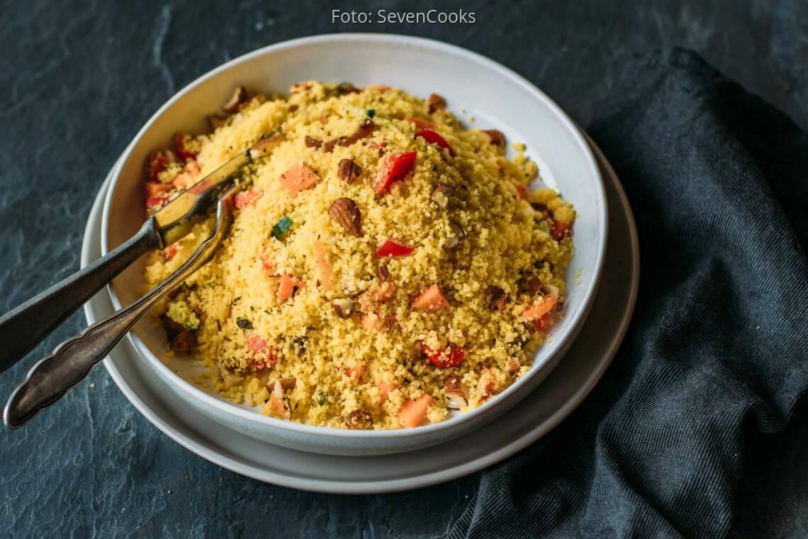 Veganes Rezept: glutenfreier orientalischer Couscous-Salat