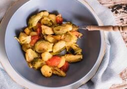 Fertiges Rezept: Gnocchi-Rosenkohl-Pfanne