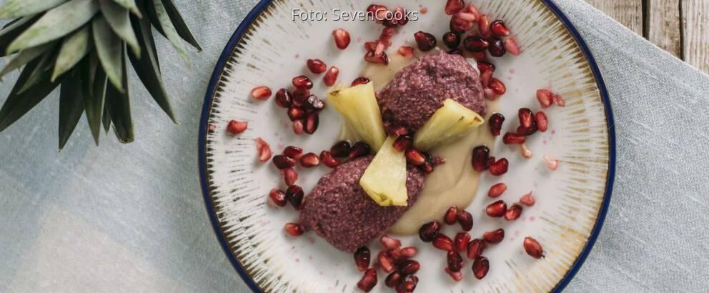 Veganes Rezept: Granatapfeldessert_2