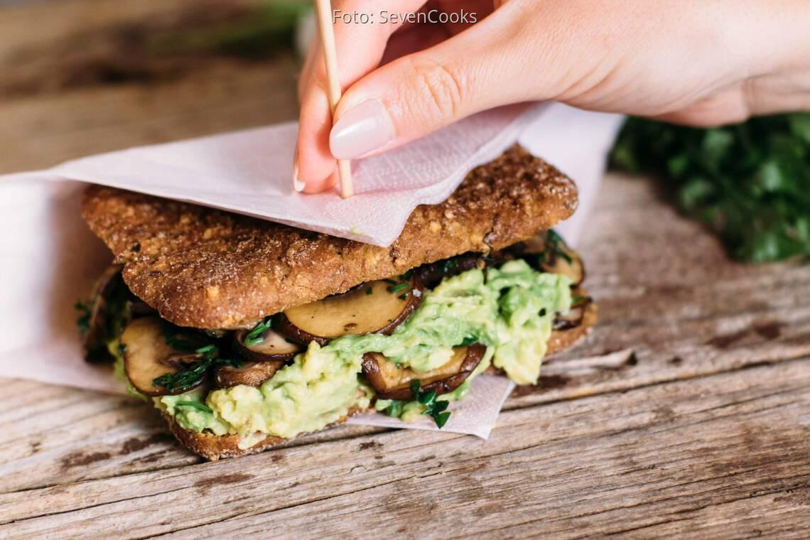 Veganes Rezept: Grilled-Mushroom-Sandwich