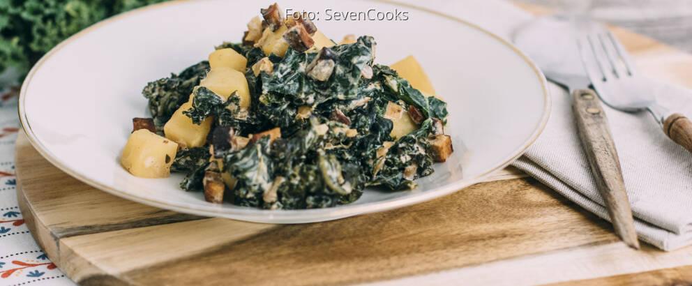 Veganes Rezept: Grünkohl mit Kartoffeln und Räuchertofu 1