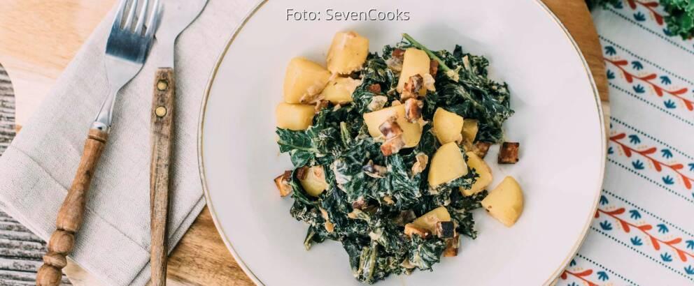 Veganes Rezept: Grünkohl mit Kartoffeln und Räuchertofu 2