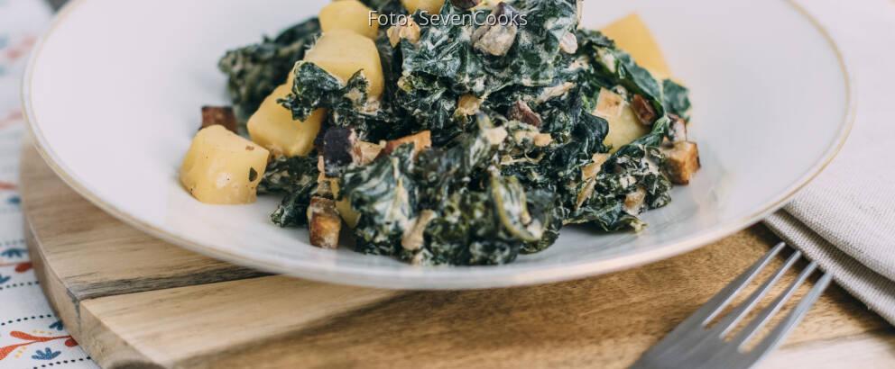 Veganes Rezept: Grünkohl mit Kartoffeln und Räuchertofu 3