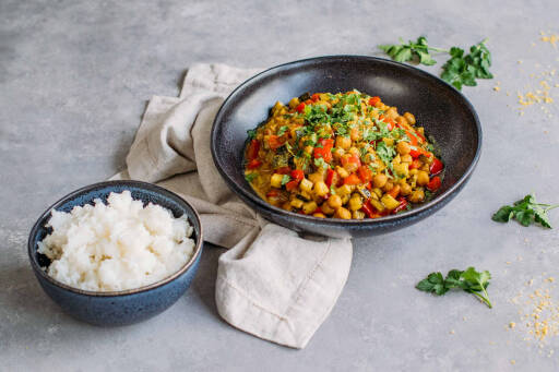 Veganes Rezept: Kichererbsen Zucchini Curry 1