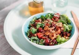 Veganes Rezept: Kirsch-Sesam-Salat_1