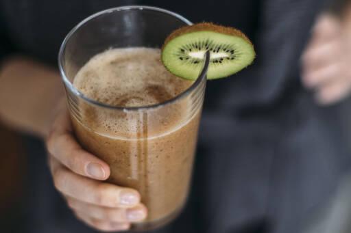 Veganes Rezept: Kiwi Papaya Sport Shake 1