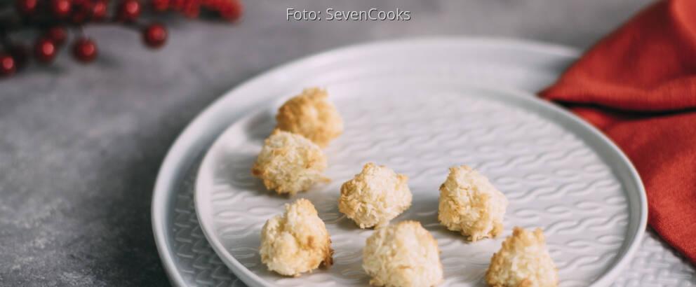 Weihnachtsplätzchen Kokosmakronen.Kokosmakronen