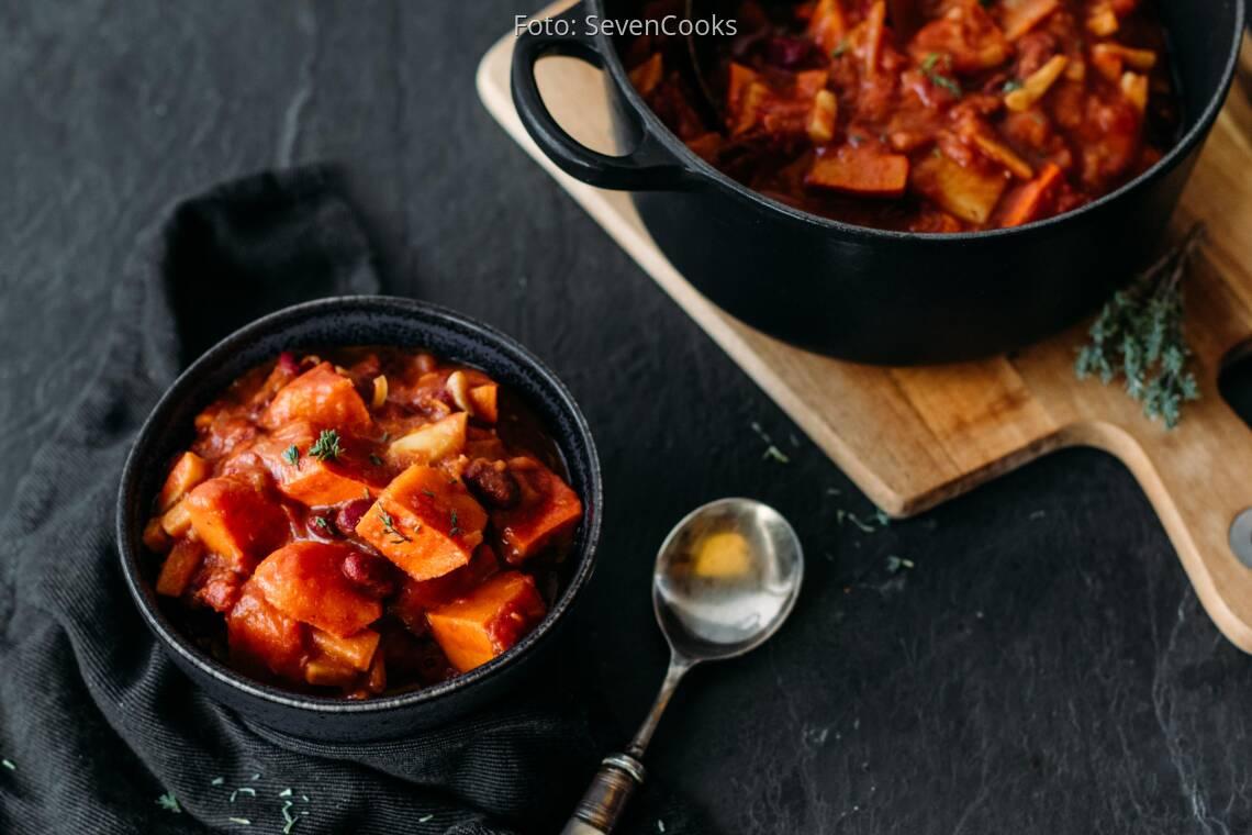 Veganes Rezept: Kürbis-Bohnen-Eintopf 1