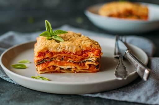 Veganes Rezept: Kürbis-Lasagne mit Spinat 1