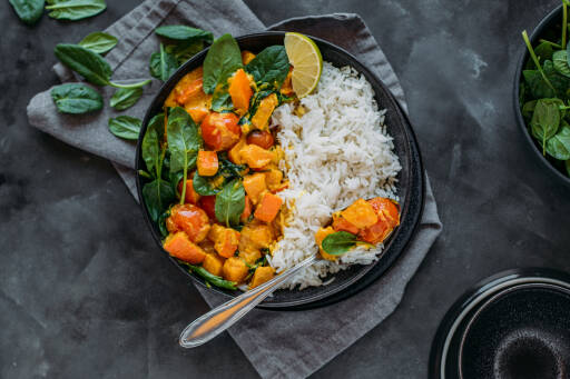 Veganes Rezept: Kürbis-Curry 1