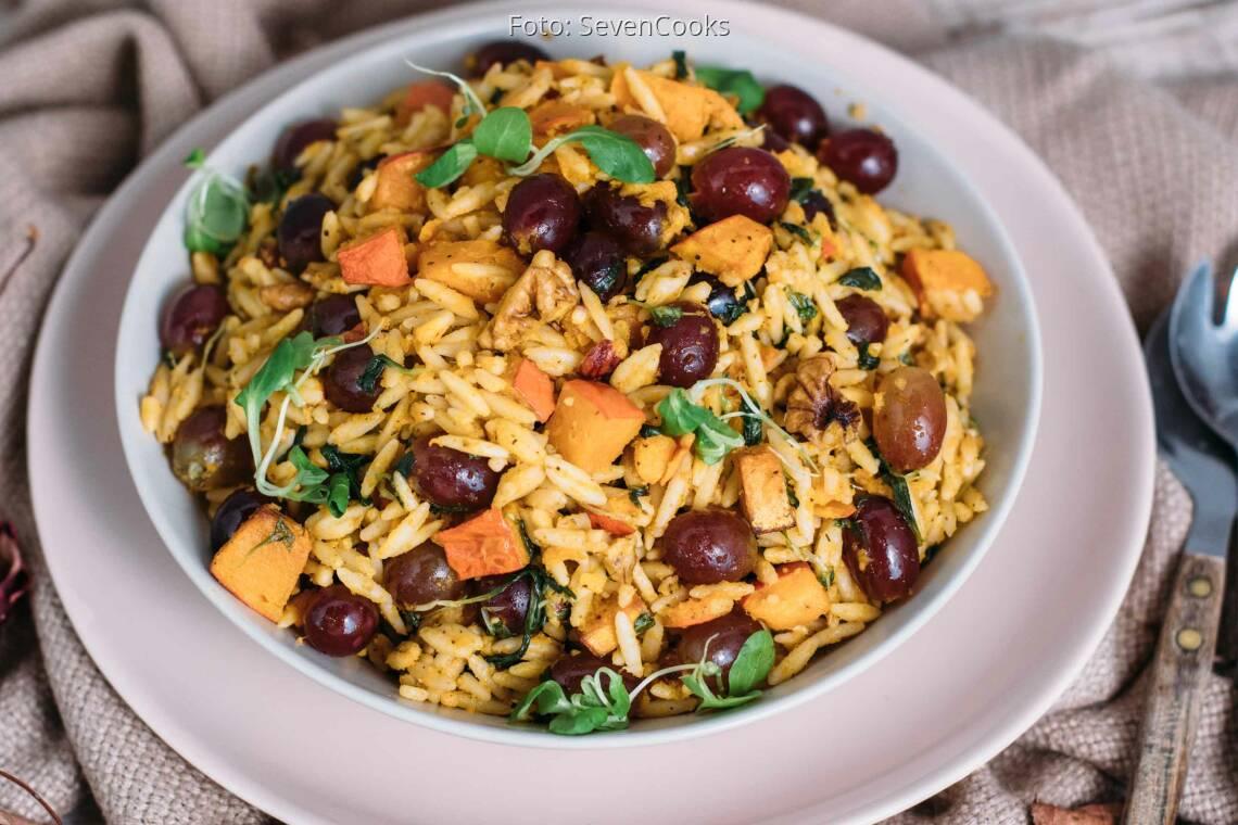 Veganes Rezept: Lauwarmer Nudelsalat mit Griechischen Nudeln