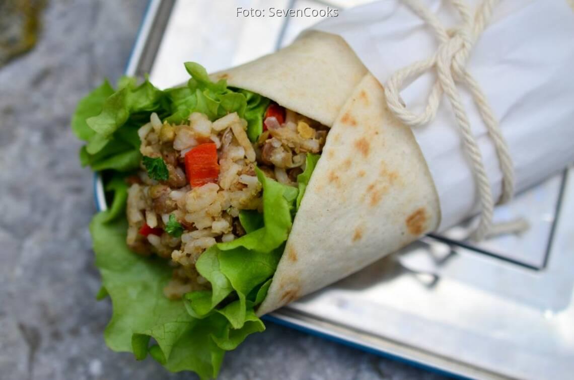 Fertiges Rezept: Linsen-Reis-Wrap to go_1
