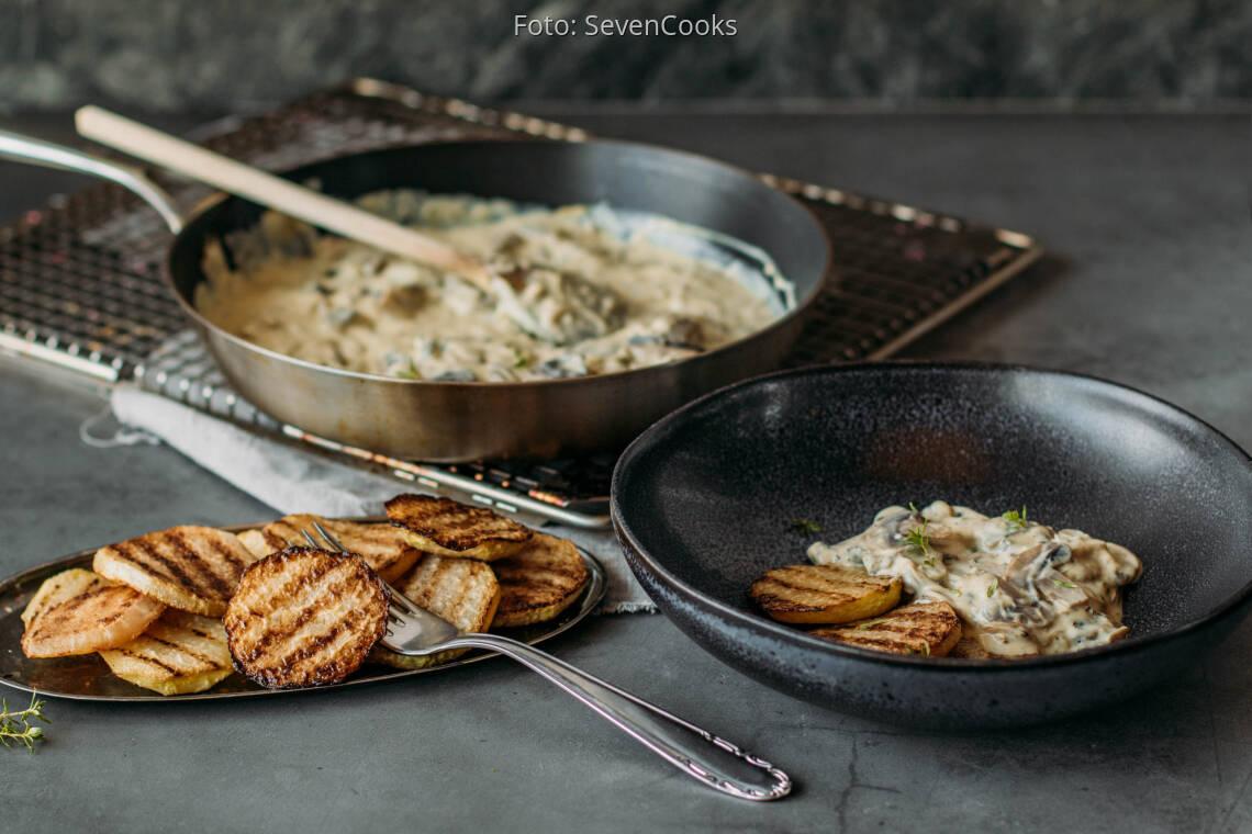 Veganes Rezept: Low Carb Kohlrabi Steaks 1