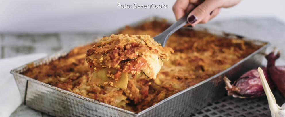Veganes Rezept: Lupinen-Lasagne