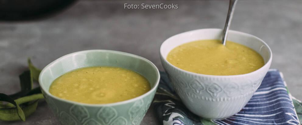 Veganes Rezept: Mais-Zucchini-Suppe