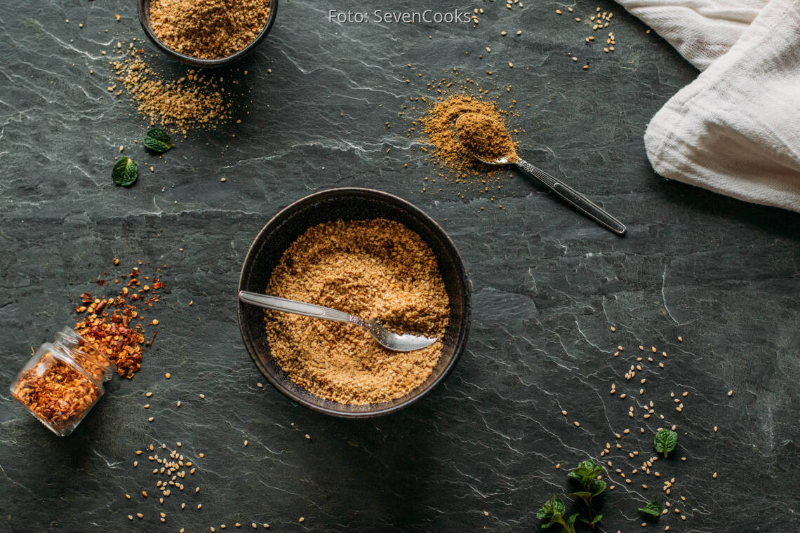 Veganes Rezept: Mandel-Dukkah