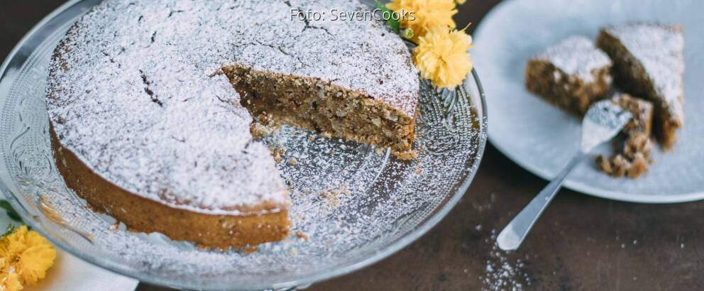 Veganes Rezept: Mandel-Orangen-Kuchen