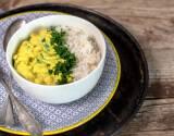 Veganes Rezept: Mandel Zucchini Curry mit Kichererbsen 1