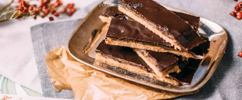 Veganes Rezept: Mandelkaramell-Schnittchen mit Schokolade_2