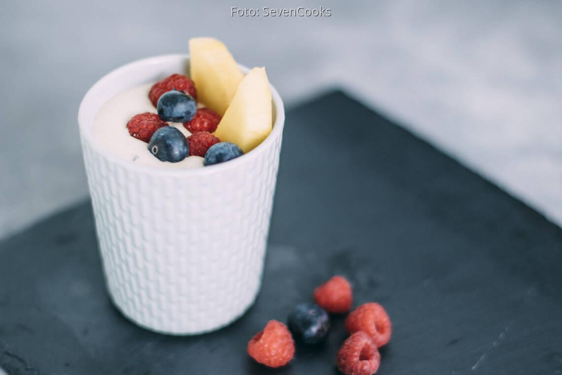 Veganes Rezept: Mango-Quarkdessert