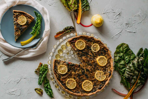Veganes Rezept: Mangold Zitronen Quiche