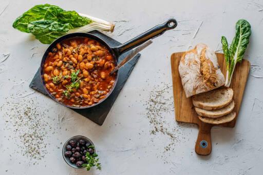 Veganes Rezept: Mediterraner Bohnen-Mangold-Eintopf 1